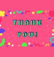thank you phrase in pixel art 8 bit vector image vector image