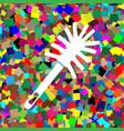 toilet brush doodle white icon on vector image