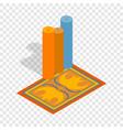 turkish carpets isometric icon vector image