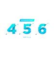 unique futuristic numbers decorative vector image vector image