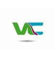 VC logo vector image vector image