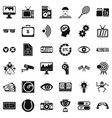 video icons set simple style vector image vector image