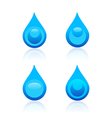 Water drop icons vector image vector image