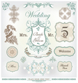 wedding decoration set vector image vector image