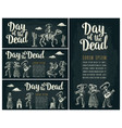 horizontal poster for dia de los muertos day of