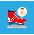 athlete medal ice skate icon graphic vector image