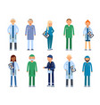 medical personal male and female healthcare vector image