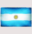 vintage argentina flag poster background vector image