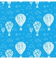 Blue seamless pattern with balloons vector image