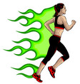 a sports girl on white vector image vector image