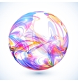 Abstract colorful sphere on white background vector image vector image