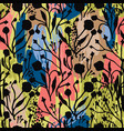 abstract floral seamless pattern with trendy hand vector image vector image