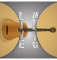 acoustic guitar with blurred background vector image vector image