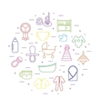 baby icons in circle shape vector image