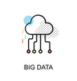big data graphic icon vector image vector image