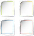 blank post stamp vector image