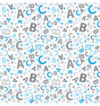 blue and grey abc letter background seamless vector image vector image