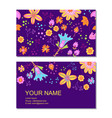 business card template in cartoon style vector image
