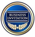 Business Invitation Blue Label vector image vector image