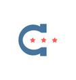 c logotype flat vector image vector image