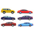 collection cars vehicles for driving riding vector image vector image