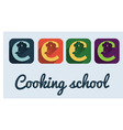 Cooking school symbol icon vector image