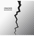 cracked ground surface realistic crack texture on vector image