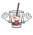 crazy white russian mascot cartoon vector image vector image