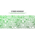 cyber monday concept vector image vector image