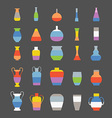 different slyle vases set vector image