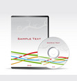 dvd template vector image