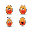 emoticon eggs symbol vector image