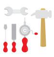 equipment tool handcraft cartoon vector image vector image
