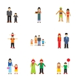 Family relatives icons set flat style vector image vector image