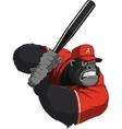 Funny monkey ballplayer vector image vector image