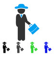 gentleman manager flat icon vector image vector image