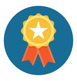 gold star quality badge vector image