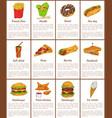hamburger and donut desset vector image vector image