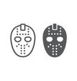 hockey mask line and glyph icon helmet vector image vector image