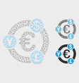 international financial collaboration mesh vector image vector image