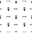 king head drawn by hand seamless pattern vector image