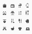 kitchenware symbol icons vector image