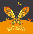 logo butterfly on bright background vector image vector image
