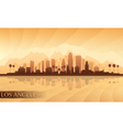 Los Angeles city skyline detailed silhouette vector image vector image
