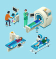 mri scanner isometric medical vector image vector image