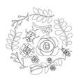 natural floral decoration flower ladybug bee vector image