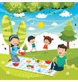 of family picnic vector image vector image
