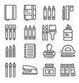 office things thin line icons set vector image vector image