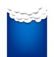 Paper clouds over blue background vector image vector image