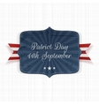Patriot Day 11th September Label vector image vector image